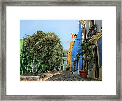 San Juan Callejon Tamarindo  Framed Print