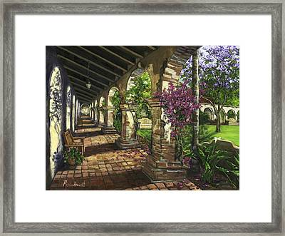 San Juan Capistrano Framed Print by Lisa Reinhardt