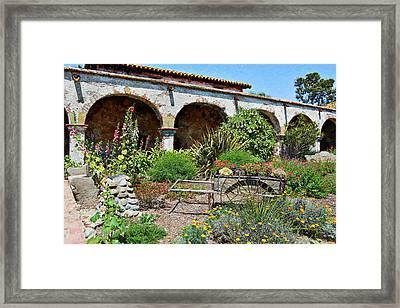 San Juan Capistrano Mission Impressions Framed Print