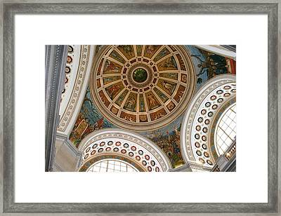 San Juan Capital Building Ceiling Framed Print