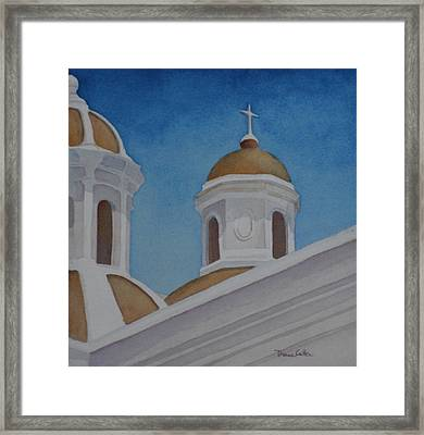 San Juan Cathedral Framed Print by Diane Cutter