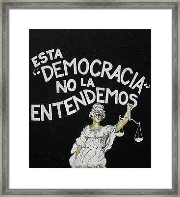 San Juan Democracia  Framed Print