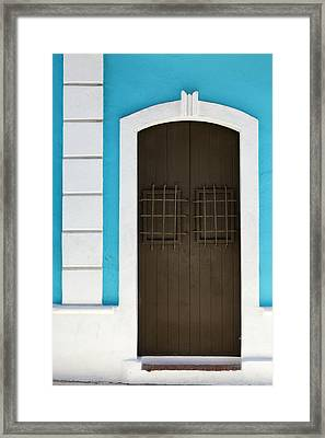 Framed Print featuring the photograph San Juan Door by Patrick Downey