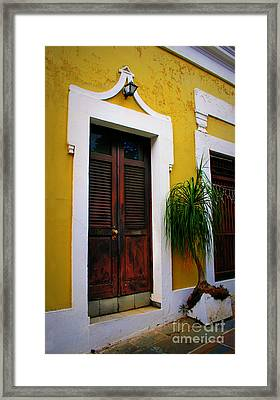 San Juan Doors Framed Print by Perry Webster