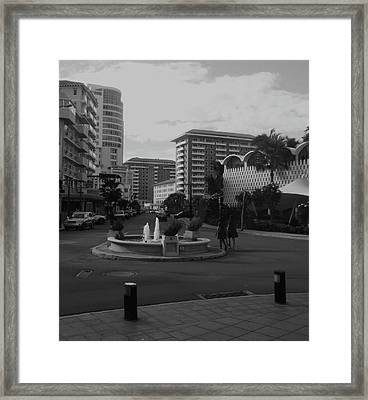 San Juan Fountain II Framed Print by Anna Villarreal Garbis