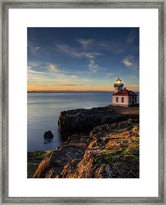 Framed Print featuring the photograph San Juan Island Serenity by Dan Mihai