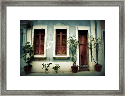 San Juan Living 3 Framed Print by Perry Webster