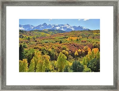 Framed Print featuring the photograph San Juan Mountains From Dallas Divide by Ray Mathis