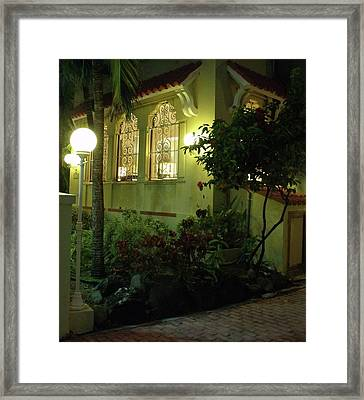 San Juan Night Framed Print by Anna Villarreal Garbis