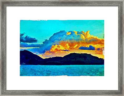 Framed Print featuring the painting San Juan Seascape by Joan Reese