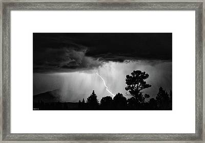 Framed Print featuring the photograph San Juan Strike by Kevin Munro