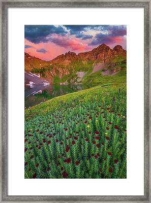 Framed Print featuring the photograph San Juan Sunrise by Darren White