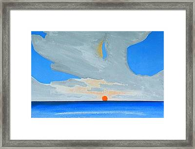 San Juan Sunrise Framed Print by Dick Sauer