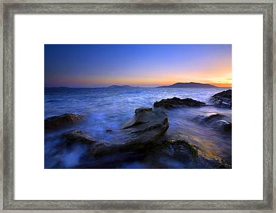 San Juan Sunset Framed Print by Mike  Dawson