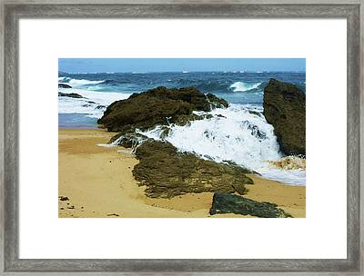 San Juan Surf II Framed Print by Anna Villarreal Garbis