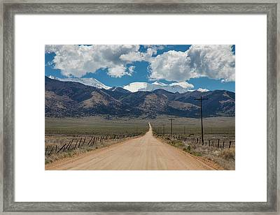 San Luis Valley Back Road Cruising Framed Print by James BO Insogna