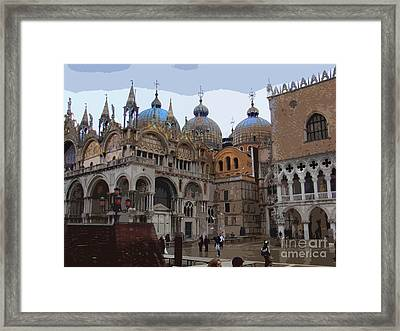 San Marco And The Doge's Palace - Venice Framed Print by Al Bourassa