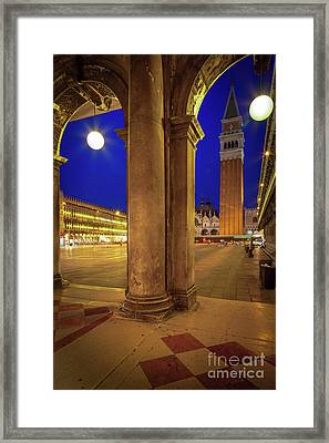 San Marco At Night Framed Print by Inge Johnsson