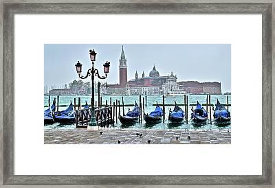 San Marco Gondolas  Framed Print