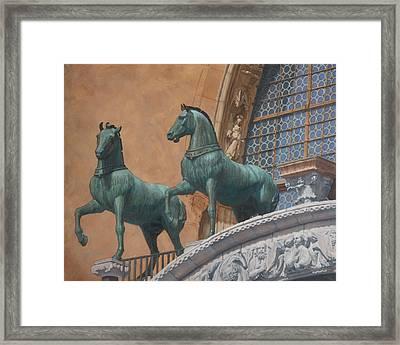 San Marco Horses Framed Print by Swann Smith
