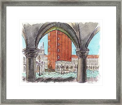 San Marcos Square Venice Italy Framed Print