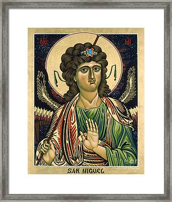 San Miguel Arcangel - St. Michael The Archangel - Lwmaa Framed Print by Lewis Williams OFS