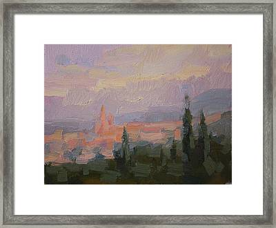 San Miguel Cathedral Sunrise Framed Print by Kathryn Townsend