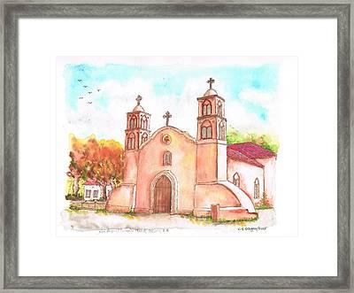 San Miguel Catholic Church, Socorro, New Mexico Framed Print by Carlos G Groppa