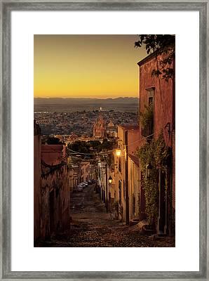 San Miguel De Allende Sunset Framed Print