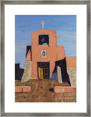 San Miguel Mission In Santa Fe Framed Print