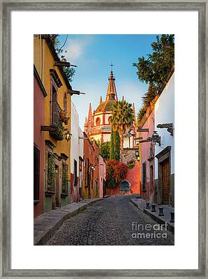 San Miguel Pueblo Magico Framed Print by Inge Johnsson