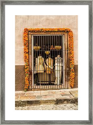 San Miguel Shop Window Framed Print by Lindley Johnson