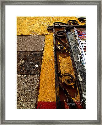 San Miguel Wrought Iron 3 Framed Print
