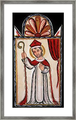 San Nicolas - St. Nicholas - Aosni Framed Print by Br Arturo Olivas OFS