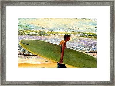 San O Man Framed Print by Kathy Dueker