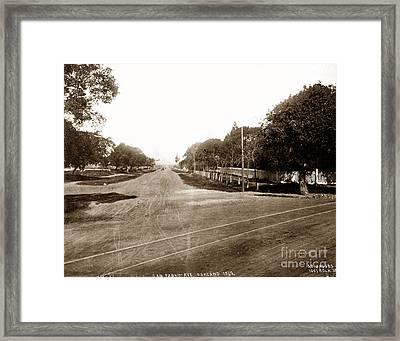 San Pablo Avenue, Oakland 1869 Framed Print