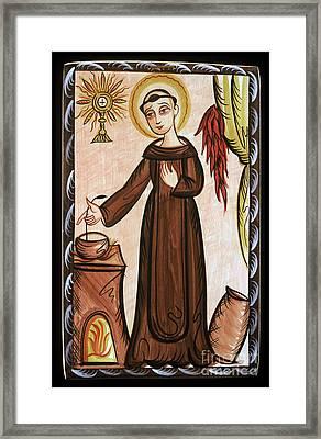 San Pascual Bailon - St. Pascal Baylon - Aopab Framed Print by Br Arturo Olivas OFS