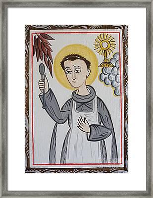 San Pascual Bailon - St. Pascal Baylon - Aopba Framed Print by Br Arturo Olivas OFS