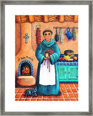 San Pascual In Blue Framed Print