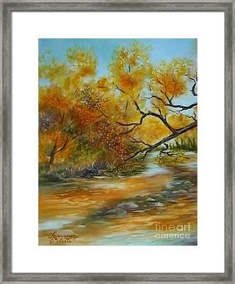 San Pedro River Framed Print by Summer Celeste