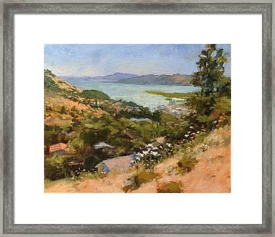 San Rafael Bay From Via La Cumbre, Greenbrae, Ca Framed Print by Peter Salwen