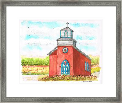 San Rafael Church In La Cueva, New Mexico Framed Print by Carlos G Groppa