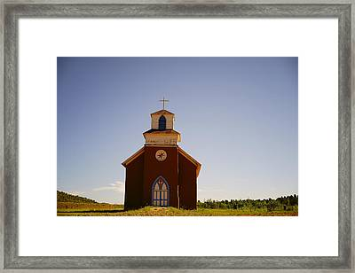 San Rafael Church, La Cueva, New Mexico, July 27, 2015 Framed Print