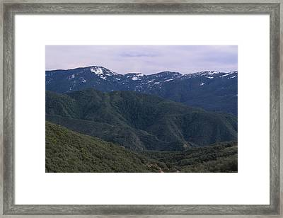 San Rafael Mountains Framed Print by Soli Deo Gloria Wilderness And Wildlife Photography
