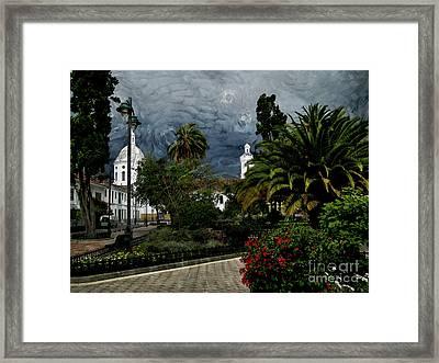 San Sebastian Park - Van Gogh Style Framed Print