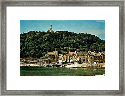 San Sebastian Spain Framed Print by Mary Machare