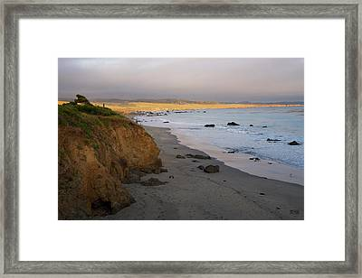 Framed Print featuring the photograph San Simeon Coastal II Color by David Gordon