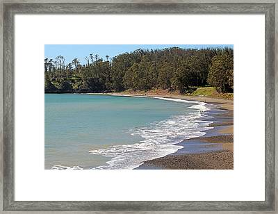 Framed Print featuring the photograph San Simeon Cove by Art Block Collections