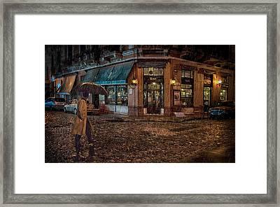 San Telmo Night Framed Print by Hans Wolfgang Muller Leg