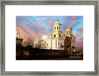 San Xavier Del Bac Mission 1 Framed Print by Bob Christopher